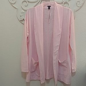 NWT J. Crew Open Front Pink Cotton Cardigan